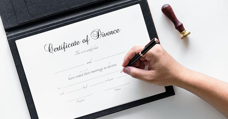 Divorce certificate signing